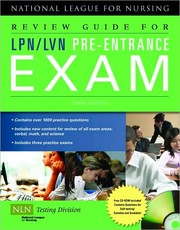 Cover of: Review guide for LPN/LVN pre-entrance exam |