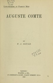 Cover of: Auguste Comte