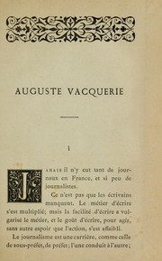 Cover of: Auguste Vacquerie