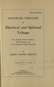 Cover of: Advanced thought on electrical and spiritual voltage
