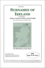 Cover of: The All New Surnames of Ireland
