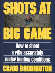 Cover of: Shots at Big Game