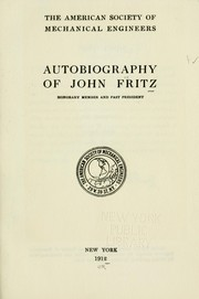 Cover of: The autobiography of John Fritz