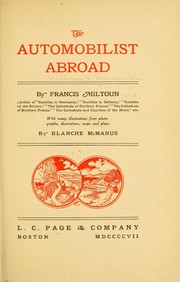 Cover of: The automobilist abroad