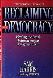Cover of: Reclaiming our democracy