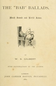 "Cover of: The "" Bab"" ballads. 