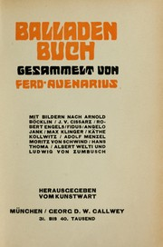 Cover of: Balladenbuch