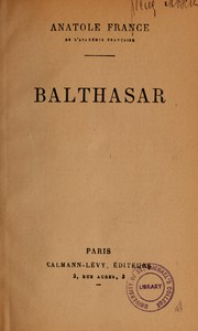Cover of: Balthasar