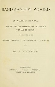 Cover of: Band aan het woord | Abraham Kuyper