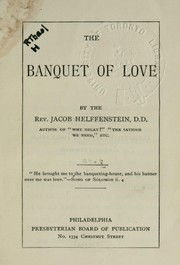 Cover of: The banquet of love | Jacob Helffenstein