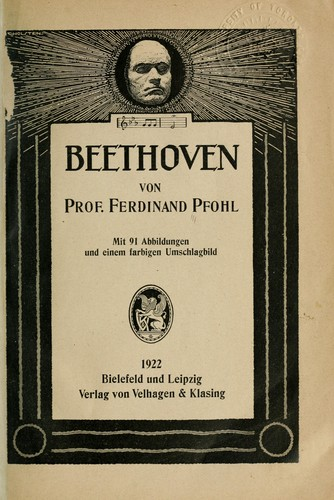 Beethoven by Pfohl, Ferdinand
