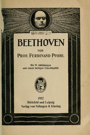 Cover of: Beethoven | Pfohl, Ferdinand