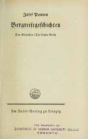 Cover of: Bergreisegeschichte