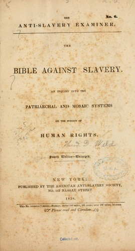 The Bible against slavery.