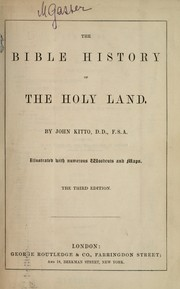 Cover of: The Bible history of the Holy Land