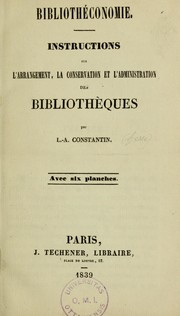 Cover of: Bibliothéconomie