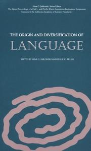 Cover of: The Origin and Diversification of Language |