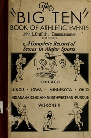 Cover of: The Big ten book of athletic events | John L. Griffith