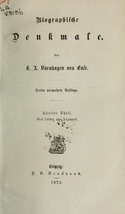 Cover of: Biographische Denkmale