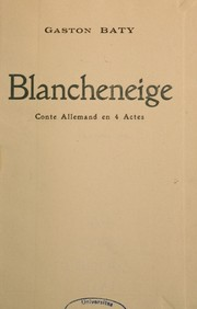 Cover of: Blancheneige