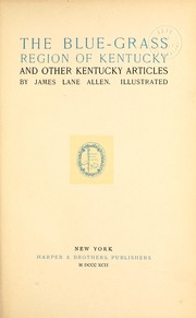 Cover of: The blue-grass region of Kentucky