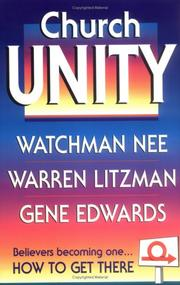 Cover of: Church Unity | Nee, Watchman.