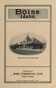 Cover of: Boise, Idaho | Boise Commercial Club, Boise, Id