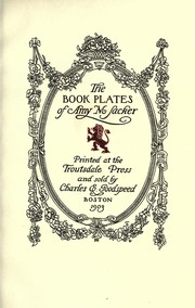 Cover of: The book plates of Amy M. Sacker | Amy M. Sacker