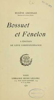 Cover of: Bossuet et Fénelon