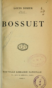 Cover of: Bossuet
