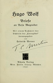 Cover of: Briefe an Rosa Mayreder