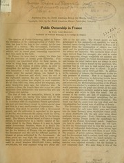 Cover of: Brief of arguments against public ownership | American Telephone and Telegraph Company