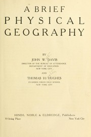 Cover of: A brief physical geography