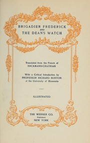 Cover of: Brigadier Frederick, and, The dean's watch