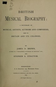 Cover of: British musical biography | Brown, James Duff