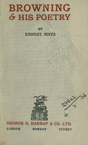Cover of: Browning & his poetry