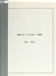Cover of: Bryan Grimes Camp no. 424 | United Confederate Veterans. Bryan Grimes Camp No. 424
