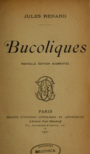 Cover of: Bucoliques