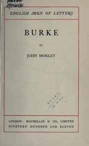 Cover of: Burke