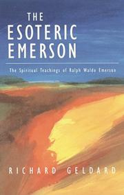 Cover of: The esoteric Emerson