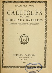 Cover of: Calliclès