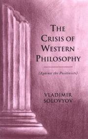 Cover of: The crisis of Western philosophy