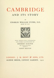 Cover of: Cambridge and its story | Charles William Stubbs