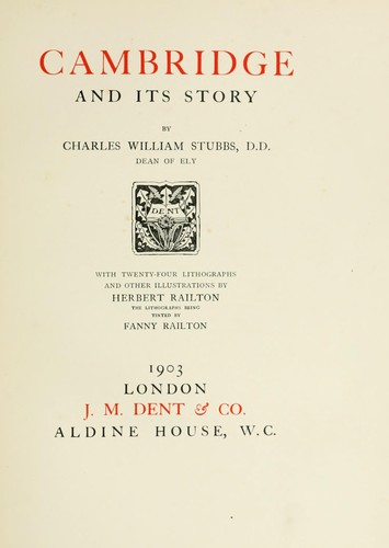 Cambridge and its story. by Charles William Stubbs