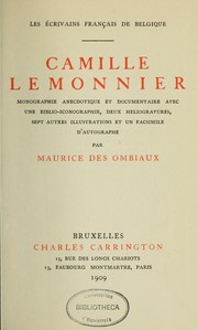 Cover of: Camille Lemonnier