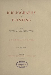Cover of: A bibliography of printing (Vol. 3) |