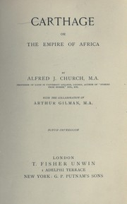 Cover of: Carthage, or the empire of Africa