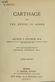 Cover of: Carthage; or, The empire of Africa