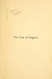Cover of: The case of Belgium