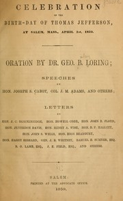 Cover of: Celebration of the birth-day of Thomas Jefferson